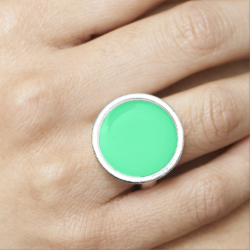 Candy Mint Green Rings