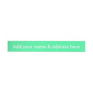 Candy Mint Green Wrap Around Address Label