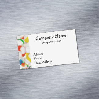 Candy Mints Party Time Magnetic Business Card