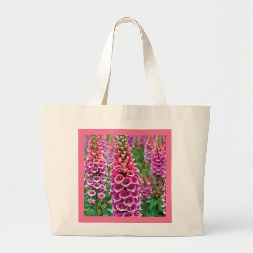 Candy Mountain Foxglove Eco-Friendly Grocery Tote Canvas Bag
