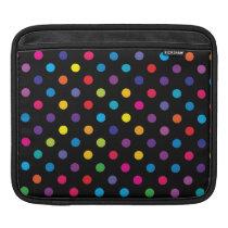 Candy on Black Polka Dot iPad Sleeve