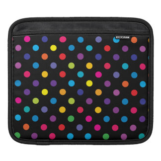 Candy on Black Polka Dot iPad Sleeve