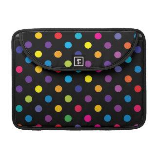 Candy on Black Polka Dot Sleeves For MacBooks