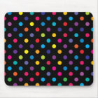 Candy on Black Polka Dot Mouse Pad