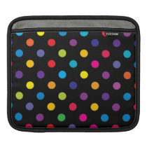 Candy on Black Polka Dot Sleeve For iPads