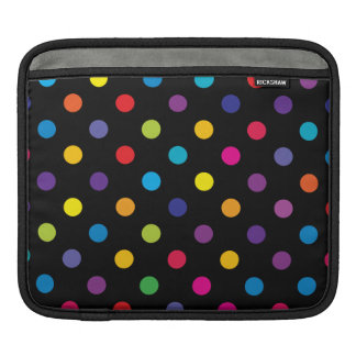 Candy on Black Polka Dot Sleeve For iPads