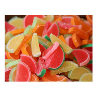 Candy orange slice postcard