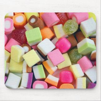 Candy party mix print mousepad