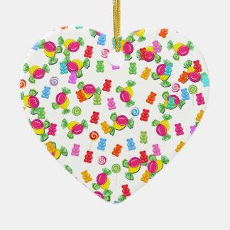 Candy pattern ceramic ornament