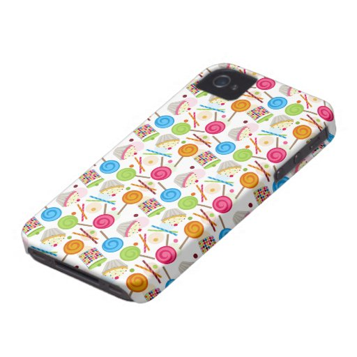 Candy Pattern iPhone 4 Case-Mate Barely There™ Case-Mate iPhone 4 Cases