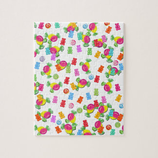 Candy pattern jigsaw puzzle