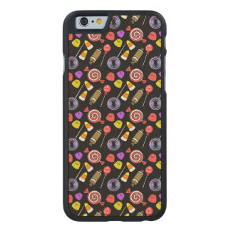 Candy Patterned Carved Maple iPhone 6 Slim Case