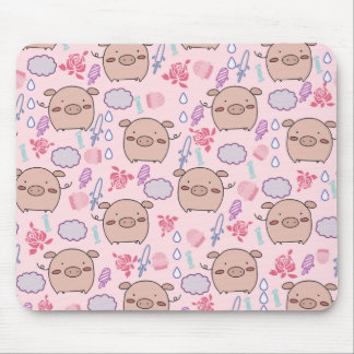 Candy Piggies Pattern Mouse Pad
