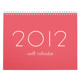Candy Pink Design Your Photos 2012 Wall Calendar