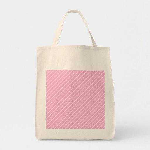 Candy Pink Diagonal Striped Pattern. Bags