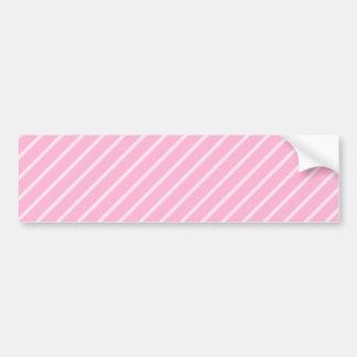 Candy Pink Diagonal Striped Pattern Bumper Sticker