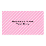 Candy Pink Diagonal Striped Pattern. Business Cards