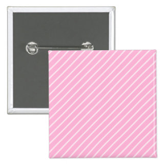 Candy Pink Diagonal Striped Pattern. 2 Inch Square Button