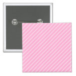 Candy Pink Diagonal Striped Pattern. Buttons