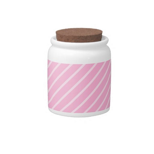 Candy Pink Diagonal Striped Pattern. Candy Dishes