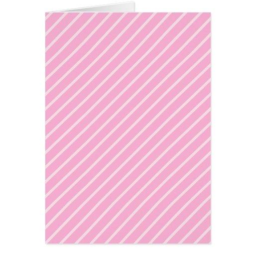 Candy Pink Diagonal Striped Pattern. Greeting Card