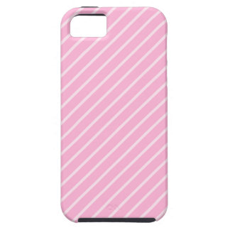 Candy Pink Diagonal Striped Pattern. iPhone SE/5/5s Case