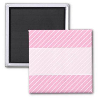 Candy Pink Diagonal Striped Pattern. Magnet