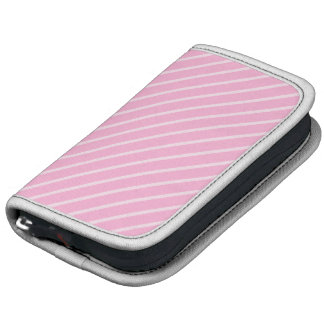 Candy Pink Diagonal Striped Pattern Folio Planners