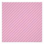 Candy Pink Diagonal Striped Pattern. Posters