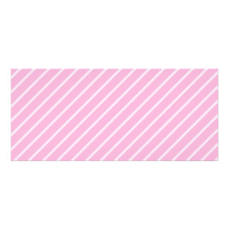 Candy Pink Diagonal Striped Pattern. Personalized Rack Card