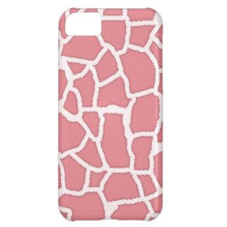 Candy Pink Giraffe Animal Print iPhone 5C Case