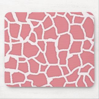 Candy Pink Giraffe Animal Print Mouse Pad