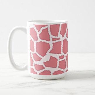 Candy Pink Giraffe Animal Print Classic White Coffee Mug