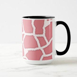 Candy Pink Giraffe Animal Print; Retro Chalk Mug