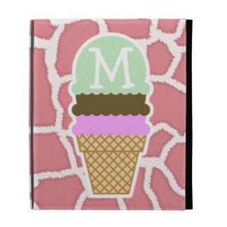 Candy Pink Giraffe; Ice Cream Cone iPad Cases