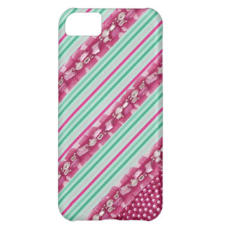 Candy Pink & Mint Green Faux Gem IPhone Case iPhone 5C Cover