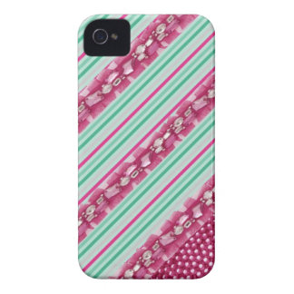 Candy Pink & Mint Green Faux Gem IPhone Case iPhone 4 Cover