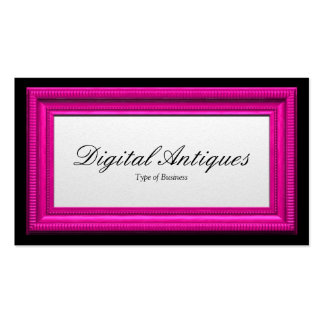 Candy Pink Picture Frame Double-Sided Standard Business Cards (Pack Of 100)