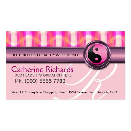 Candy Pink Holistic Health Reiki Business Card Templates