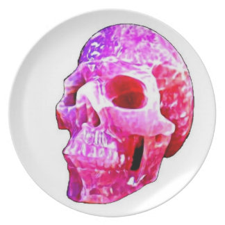Candy Pink Skull Plate