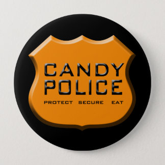 Candy Police Badge Pinback Button