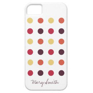 Candy Polka Dot Custom Name Plum iPhone 5 Cover