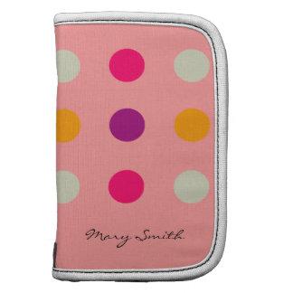 Candy Polka Dot Purple Custom Name Pink Planner