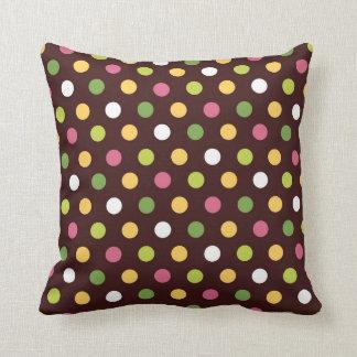 Candy Polka Dots Throw Pillow