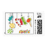 Candy Postage Stamp
