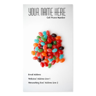 Candy profile card business card