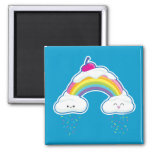 Candy Rainbow 2 Inch Square Magnet