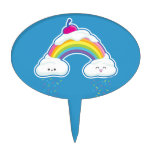 Candy Rainbow Oval Cake Topper
