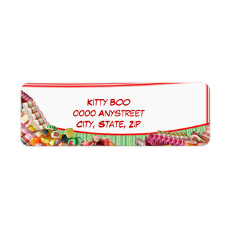 Candy Return Address Label