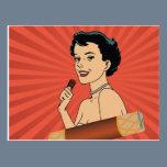 Candy Roll Girl Postcard